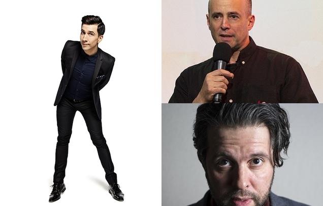 Russell Kane, Sean Meo & Andy Robinson (MC)