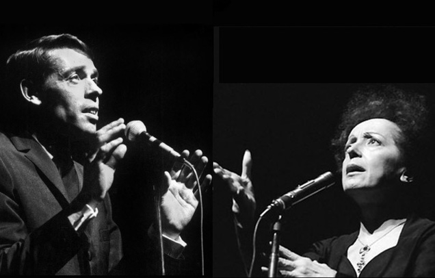 Jacques Brel and Edith Piaf
